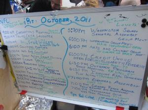 Occupy Wall Street Daily Agenda