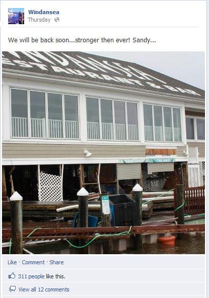 Wind & Sea Facebook to Sandy