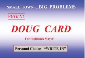 doug card sign