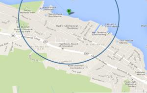 half mile radius