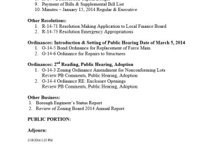 agenda feb19