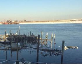 damaged dock