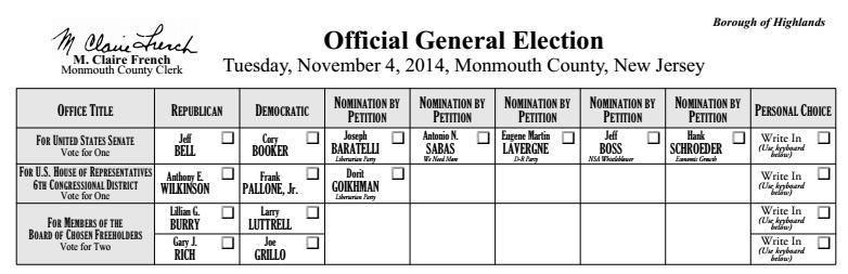election ballot 1