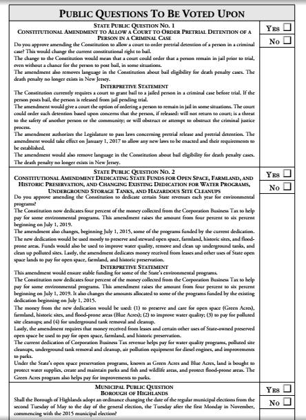 election ballot 3